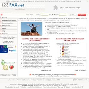 123-Fax – Envoi et Réception de fax par email, web