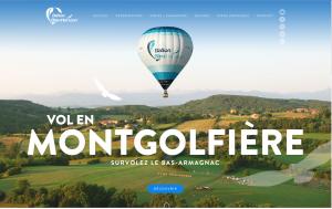 Ballon Bleu Horizon: La Montgolfière Passionnément