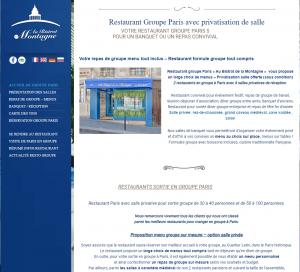 Restaurant Paris pour groupe, Bistrot la Montagne