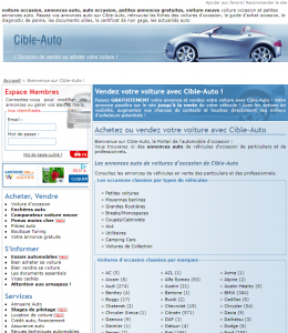 Annonces auto et voitures d'occasion avec Cible-Auto