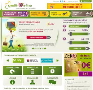 Crédit et prêt avec credit on line