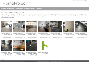 HomeProject : vente carrelage