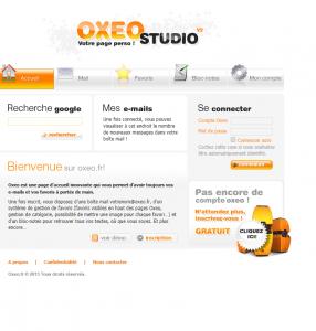 OXEO : Votre Page de Demarrage