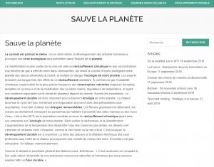 Sauver la planète – les gestes écolos