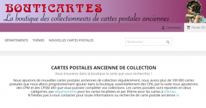 La boutique des collectionneurs de cartes postales