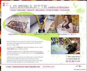 La Zébulette: création de hamac-bébé et de portage enfant
